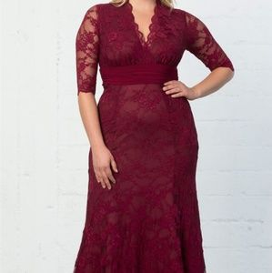 Dark Red Kionna Screen Siren Gown, 1x